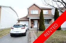 Barrhaven House for rent:  3 bedroom  (Listed 2018-07-01)