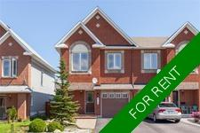 Barrhaven Townhouse for rent: Chapman Mills 3 bedroom  (Listed 2018-11-01)