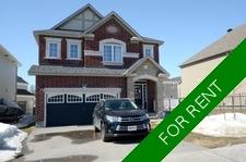 Barrhaven House for rent:  4 bedroom  (Listed 2019-06-01)