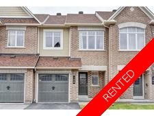 Barrhaven Townhome for rent:  3 bedroom  (Listed 2017-08-01)