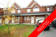 Barrhaven Townhome for rent:  3 bedroom  (Listed 2018-01-01)